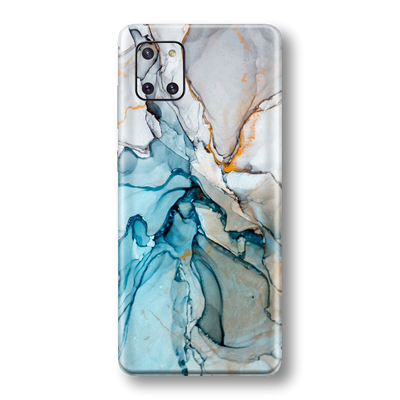 Samsung Galaxy NOTE 10 LITE Print Printed Custom SIGNATURE MARBLE TURQUOISE Skin Wrap Sticker Decal Cover Protector by EasySkinz
