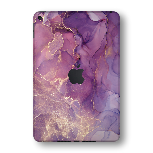 iPad MINI 5 (5th Generation 2019) SIGNATURE AGATE GEODE Purple-Gold Skin Wrap Sticker Decal Cover Protector by EasySkinz