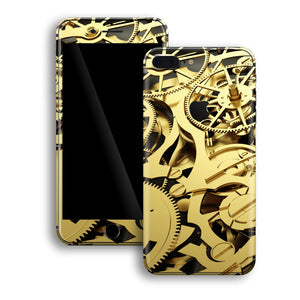 iPhone 8 PLUS Print Custom Signature Gold Mechanism Skin Wrap Decal by EasySkinz