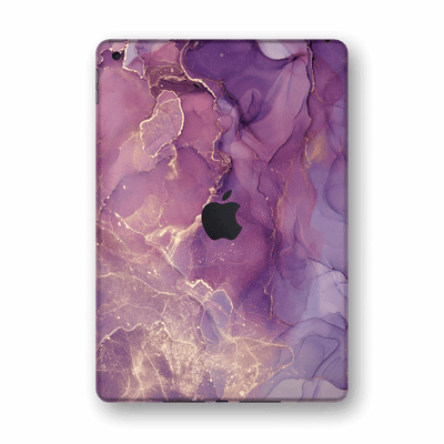 "iPad 10.2"" (8th Gen, 2020) SIGNATURE AGATE GEODE Purple-Gold Skin Wrap Sticker Decal Cover Protector by EasySkinz"