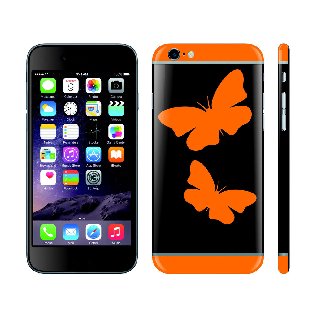 iPhone 6S Custom Colorful Design Edition  Butterflies 021 Skin Wrap Sticker Cover Decal Protector by EasySkinz