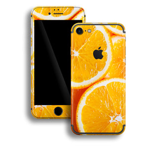 iPhone 7 Print Custom Signature Orange Skin Wrap Decal by EasySkinz