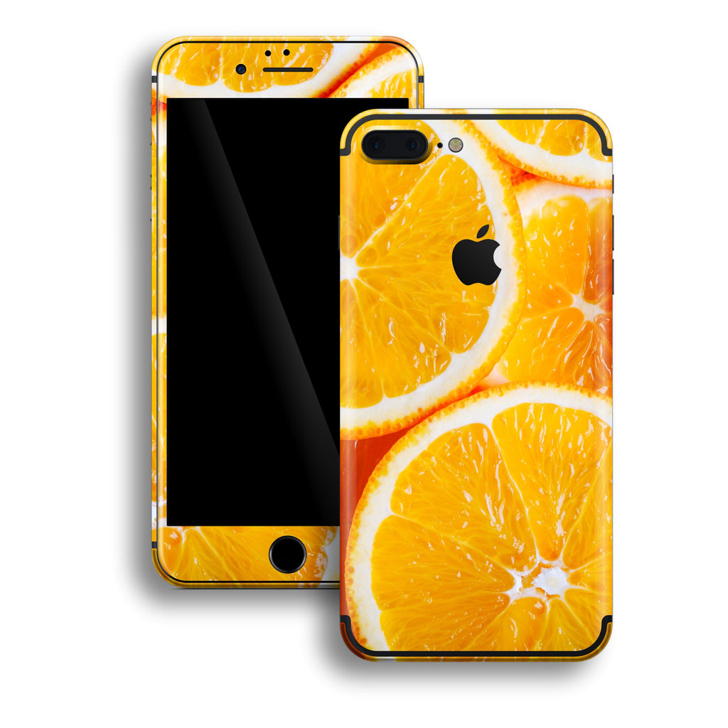 iPhone 7 PLUS Print Custom Signature Orange Skin Wrap Decal by EasySkinz