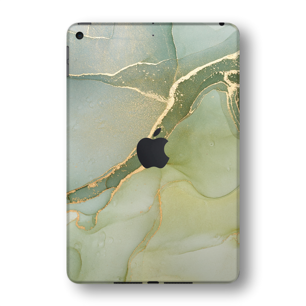 iPad MINI 5 (5th Generation 2019) SIGNATURE AGATE GEODE Green-Gold Skin Wrap Sticker Decal Cover Protector by EasySkinz