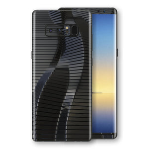Samsung Galaxy NOTE 8 Signature Black 3D Stripes Skin Wrap Decal Protector | EasySkinz