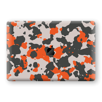 "MacBook Pro 15"" Touch Bar Camouflage Orange Skin, Decal, Wrap, Protector, Cover by EasySkinz 