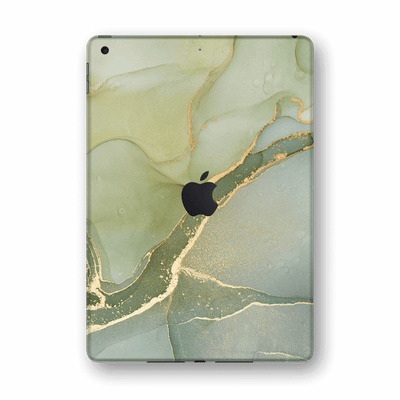 "iPad 10.2"" (8th Gen, 2020) SIGNATURE AGATE GEODE Green-Gold Skin Wrap Sticker Decal Cover Protector by EasySkinz"