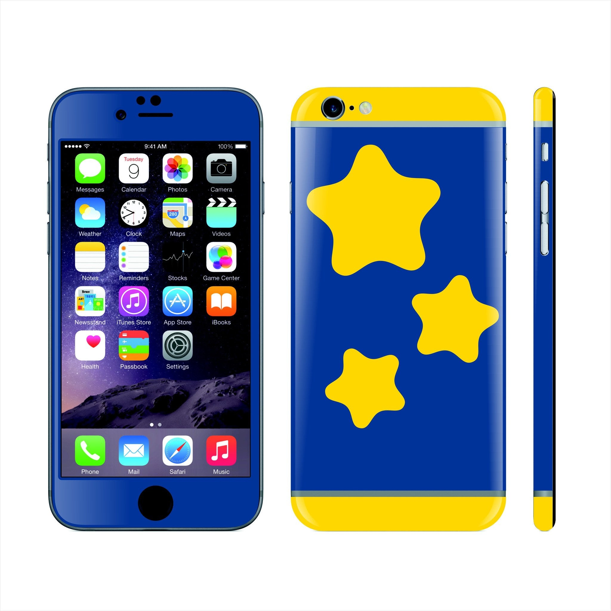 iPhone 6 Custom Colorful Design Edition  Stars 022 Skin Wrap Sticker Cover Decal Protector by EasySkinz