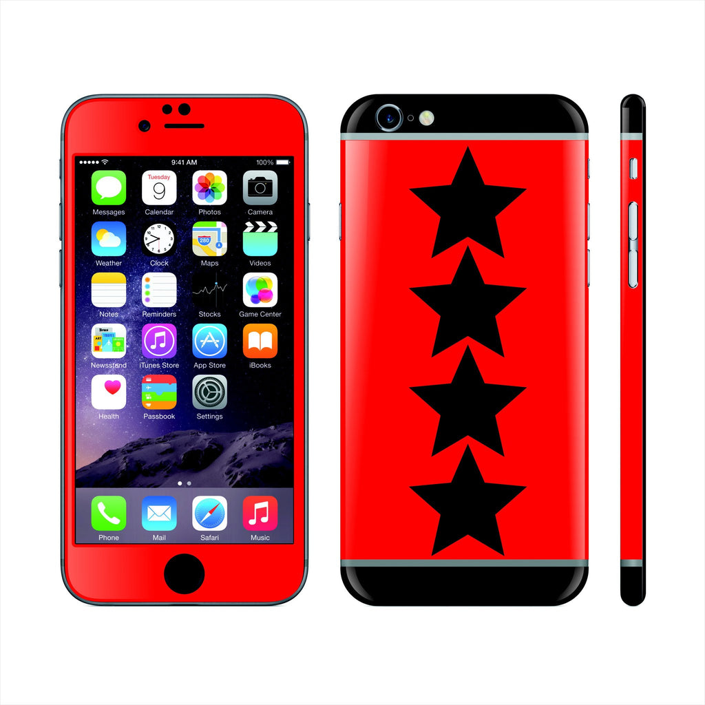 iPhone 6 Plus Custom Colorful Design Edition  Classic Stars 022 Skin Wrap Sticker Cover Decal Protector by EasySkinz