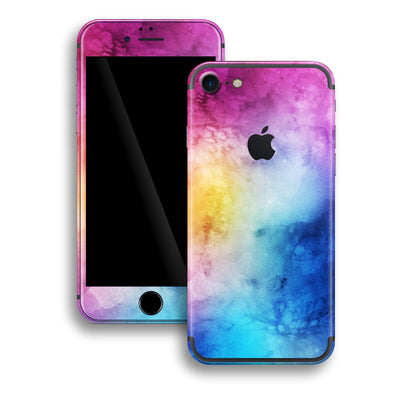 iPhone 8 Print Custom Signature Abstract Watercolour Purple Blue Skin Wrap Decal by EasySkinz