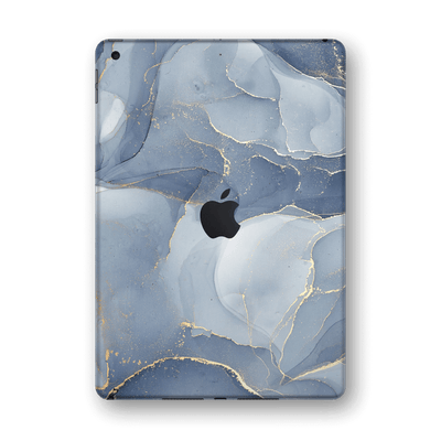 "iPad 10.2"" (8th Gen, 2020) SIGNATURE AGATE GEODE Blue-Gold Skin Wrap Sticker Decal Cover Protector by EasySkinz"