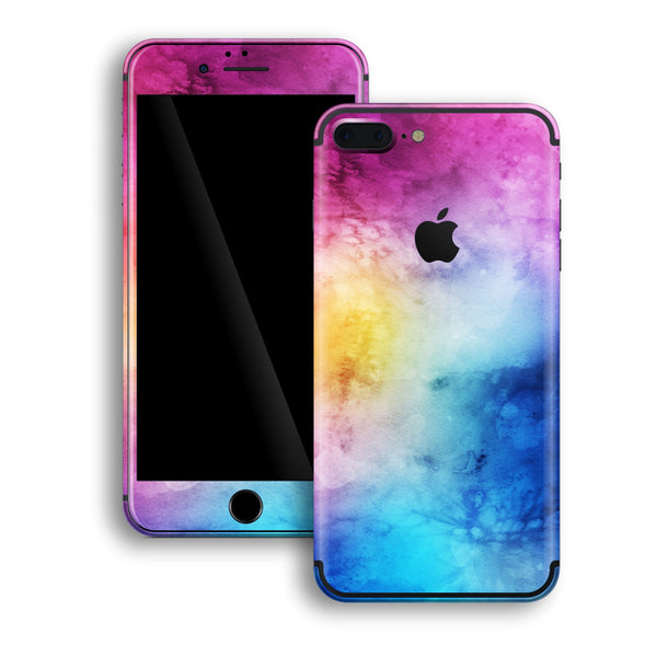 iPhone 8 PLUS Print Custom Signature Abstract Watercolour Purple Blue Skin Wrap Decal by EasySkinz