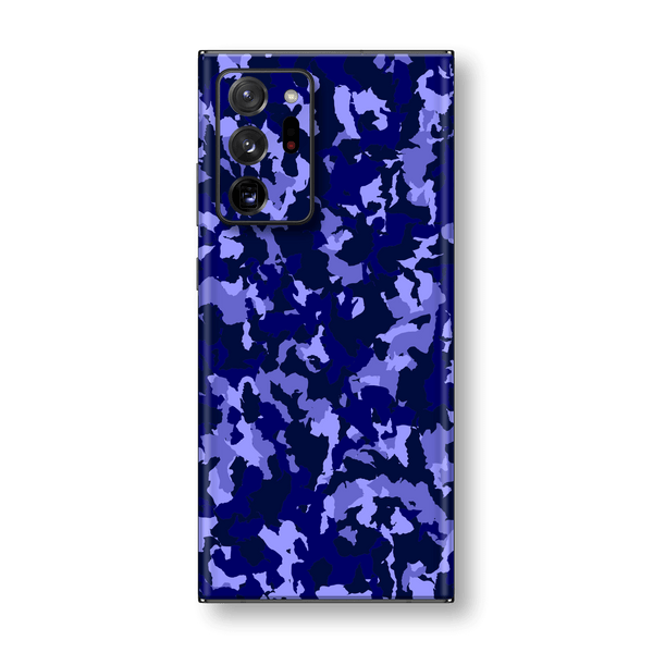 Samsung Galaxy NOTE 20 ULTRA Print Printed Custom SIGNATURE Camouflage Navy-Purple Skin Wrap Sticker Decal Cover Protector by EasySkinz