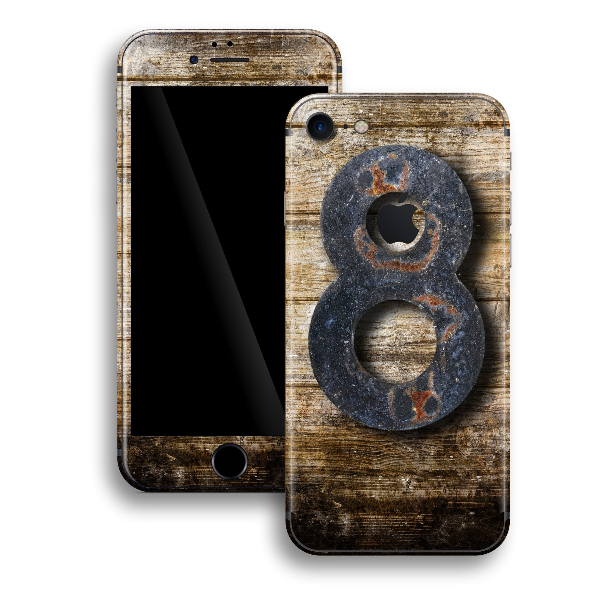 iPhone 8 Print Custom Signature Edition8 Wooden Sign Skin Wrap Decal by EasySkinz - Design 3
