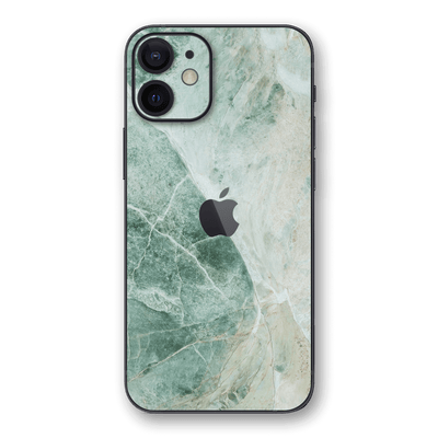 iPhone 12 mini SIGNATURE Pistachio-Green Marble Skin, Wrap, Decal, Protector, Cover by EasySkinz | EasySkinz.com
