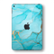 iPad MINI 5 (5th Generation 2019) SIGNATURE AGATE GEODE Aqua-Gold Skin Wrap Sticker Decal Cover Protector by EasySkinz