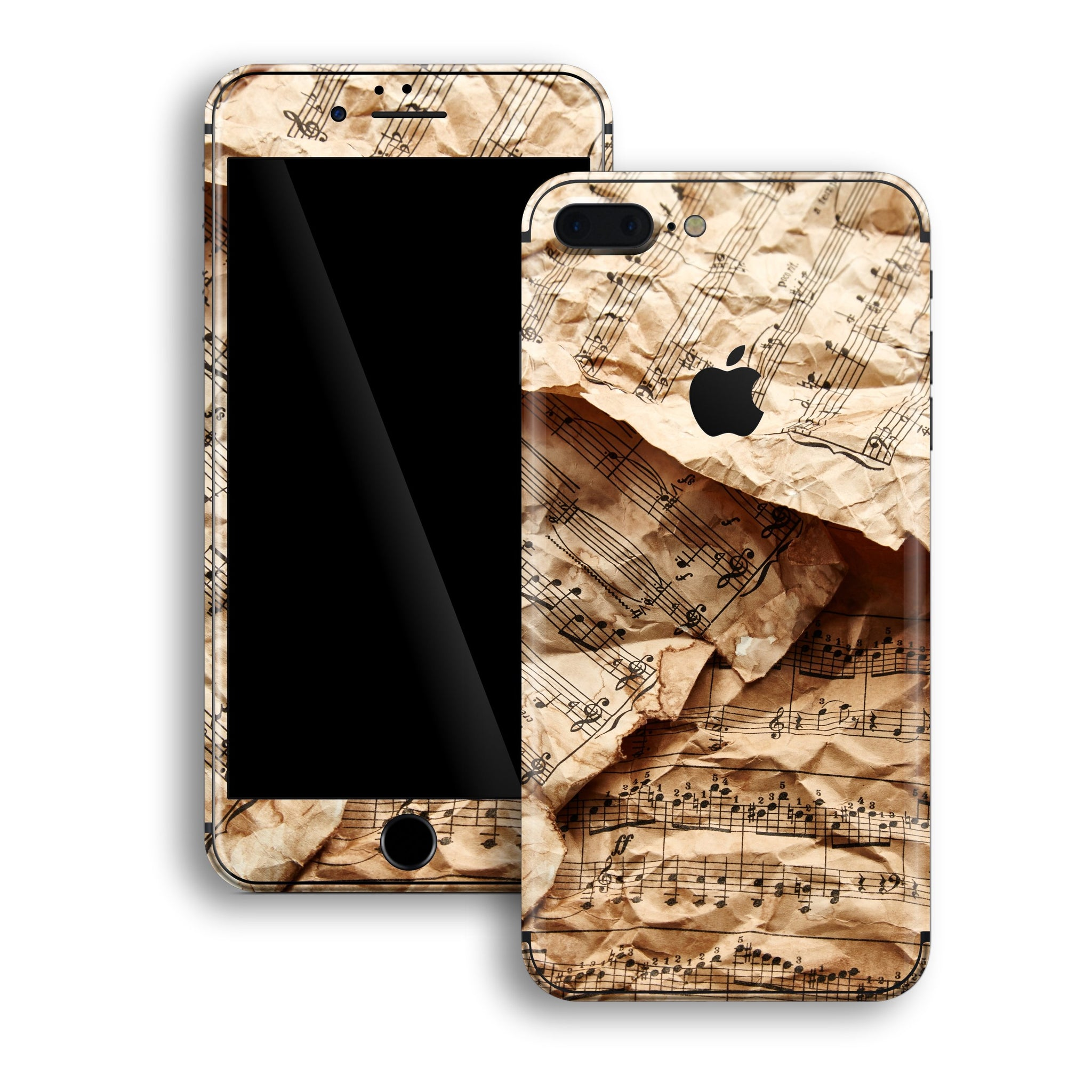 iPhone 8 PLUS Print Custom Signature Music Paper Notes Skin Wrap Decal by EasySkinz