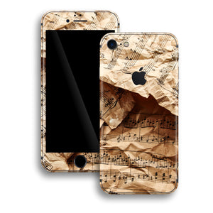 iPhone 8 Print Custom Signature Music Paper Notes Skin Wrap Decal by EasySkinz