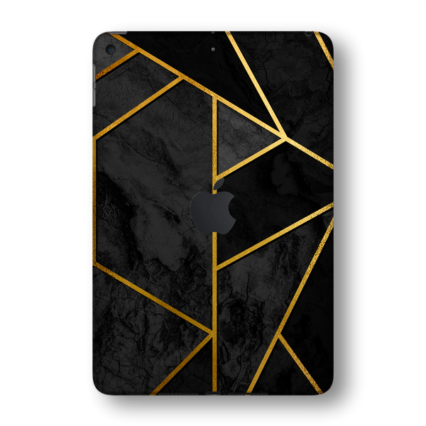 iPad MINI 5 (5th Generation 2019) SIGNATURE Black-Gold Geometric Skin Wrap Sticker Decal Cover Protector by EasySkinz