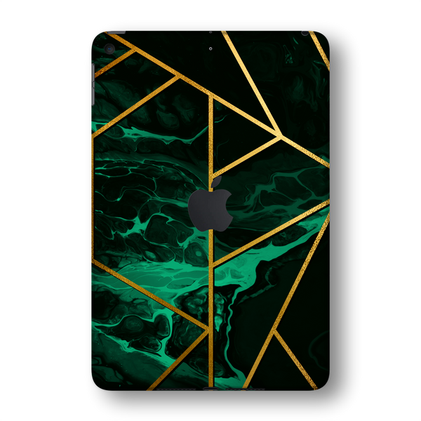 iPad MINI 5 (5th Generation 2019) SIGNATURE Liquid Green-Gold Geometric Skin Wrap Sticker Decal Cover Protector by EasySkinz