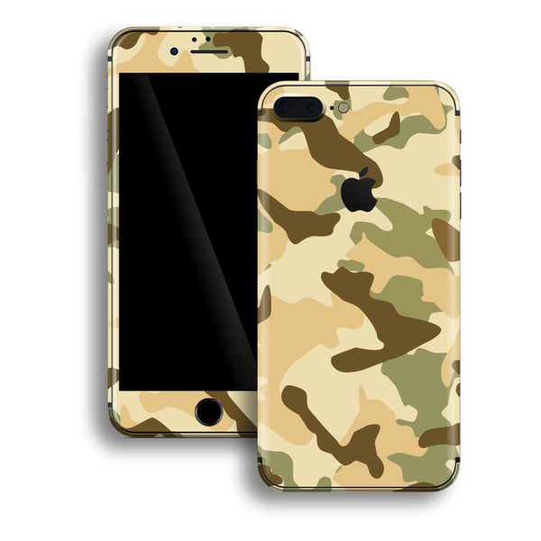 iPhone 8 PLUS Print Custom Signature DESERT Camouflage Skin Wrap Decal by EasySkinz