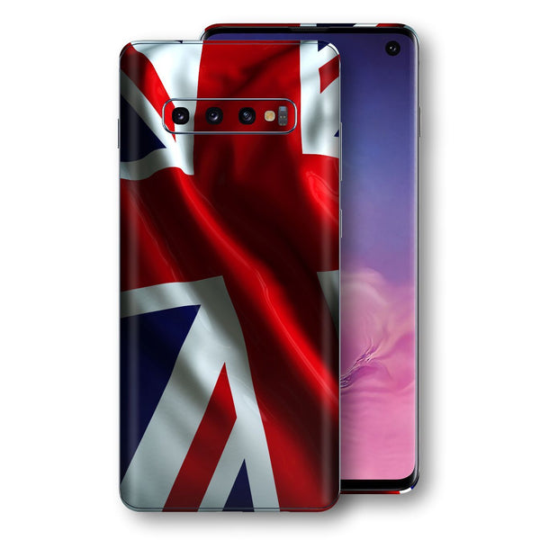 Samsung Galaxy S10 Print Custom Signature UNION JACK BRITAIN BRITISH Skin Wrap Decal by EasySkinz - Design 2