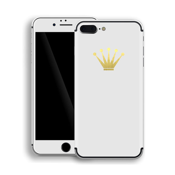 iPhone 7 Plus Crown Custom Design Matt White Skin Wrap Decal Protector Cover | EasySkinz