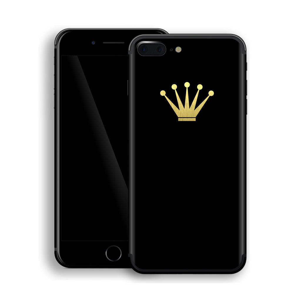 iPhone 7 Plus Crown Custom Design Matt Black Skin Wrap Decal Protector Cover | EasySkinz