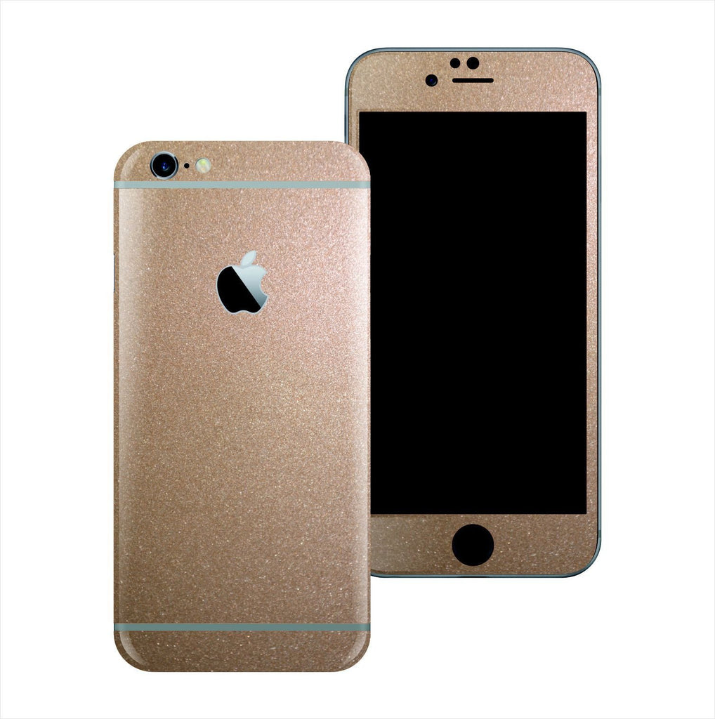 iPhone 6S Glossy Bronze Antique Metallic Skin Wrap Sticker Cover Protector Decal by EasySkinz