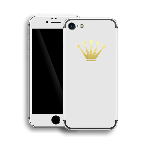 iPhone 7 Crown Custom Design Matt White Skin Wrap Decal Protector Cover | EasySkinz