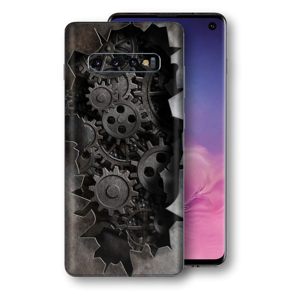 Samsung Galaxy S10 Print Custom Signature 3D Old Machine Skin Wrap Decal by EasySkinz