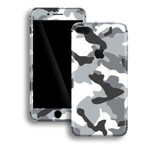 iPhone 8 PLUS Print Custom Signature GREY Camouflage Skin Wrap Decal by EasySkinz