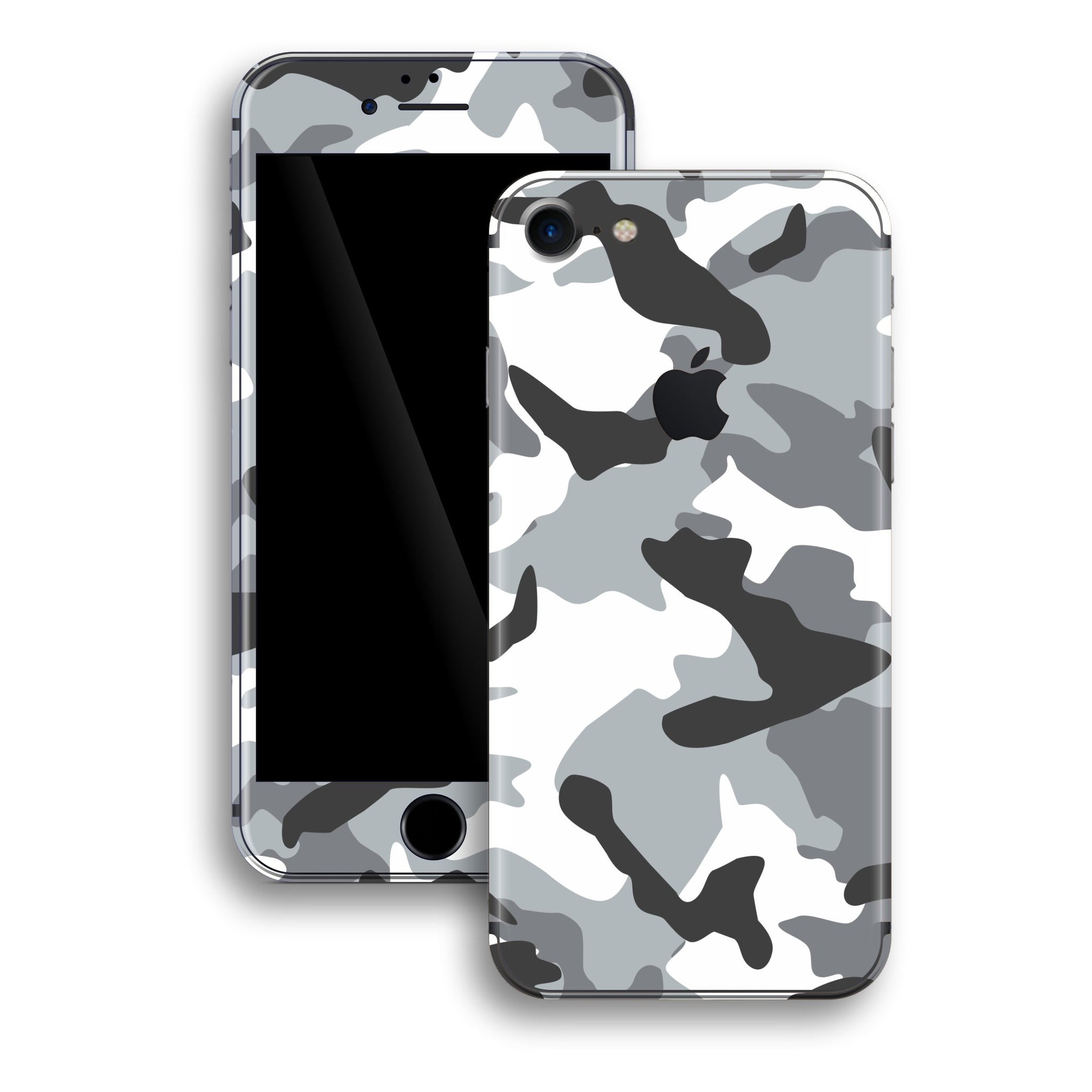 iPhone 8 Print Custom Signature GREY Camouflage Skin Wrap Decal by EasySkinz