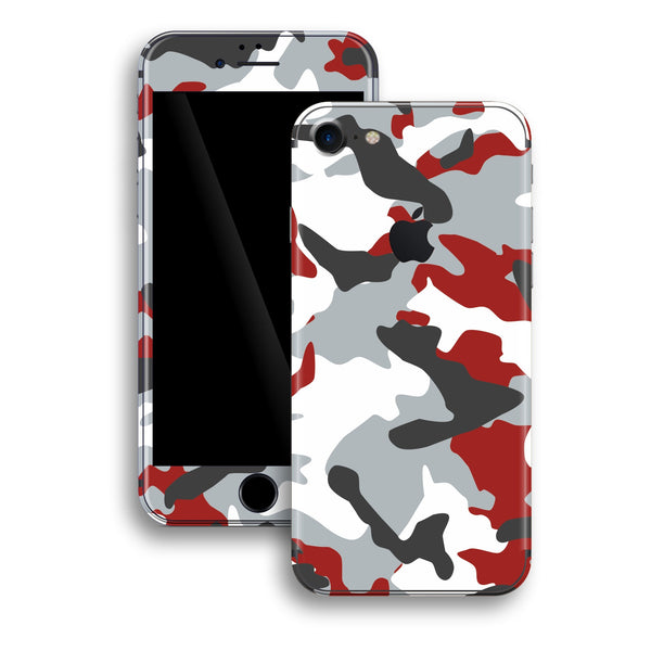 iPhone 8 Print Custom Signature RED Camouflage Skin Wrap Decal by EasySkinz