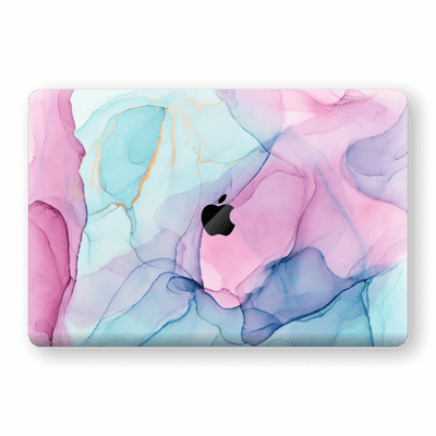 "MacBook PRO 16"" (2019) Print Custom Signature Pink-Blue CRYSTAL Skin Wrap Decal by EasySkinz"