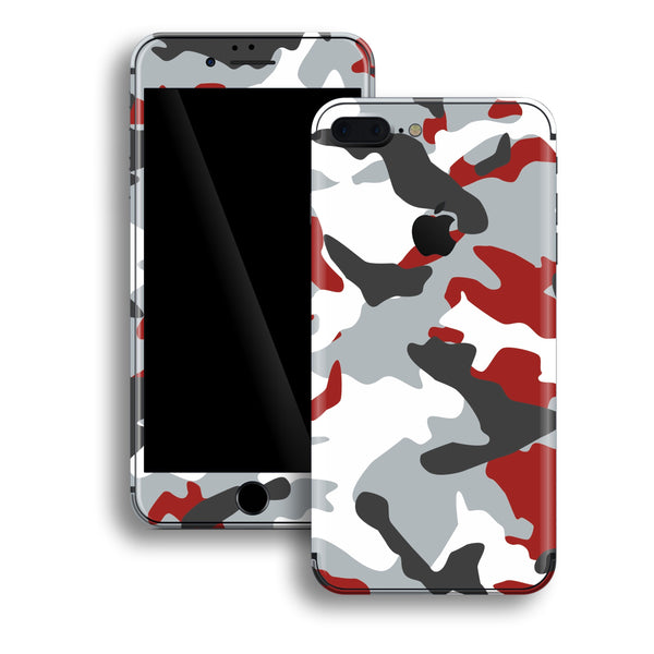 iPhone 8 PLUS Print Custom Signature RED Camouflage Skin Wrap Decal by EasySkinz