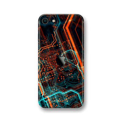 iPhone SE (2020) Print Printed Custom SIGNATURE NEON PCB Board Skin Wrap Sticker Decal Cover Protector by EasySkinz