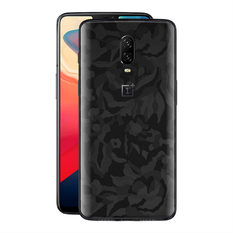 OnePlus 6T Black 3D Camo Camouflage Textured Skin Wrap Decal 3M by EasySkinz