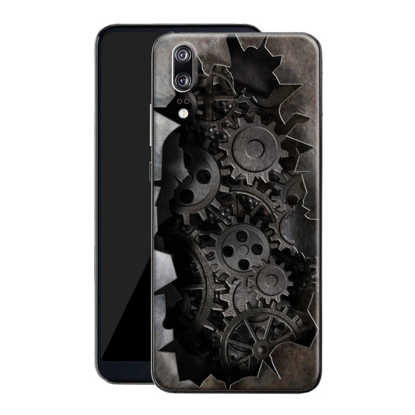 Huawei P20 Print Custom Signature 3D OLD MACHINE Skin Wrap Decal by EasySkinz