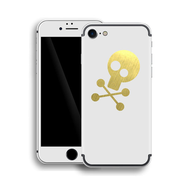 iPhone 7 Skull Custom Design Matt White Skin Wrap Decal Protector Cover | EasySkinz