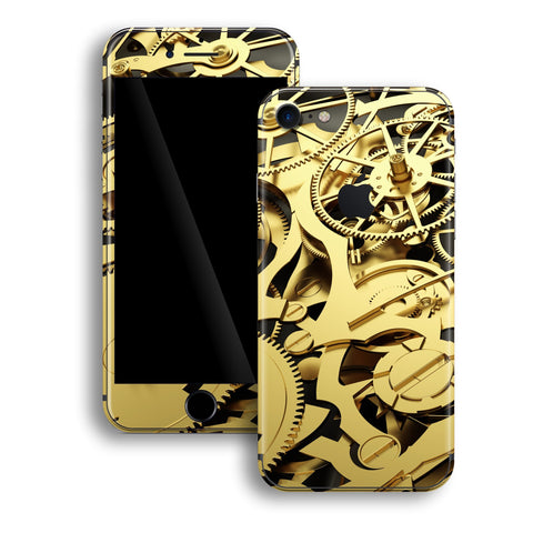 iPhone 8 Print Custom Signature Gold Mechanism Skin Wrap Decal by EasySkinz