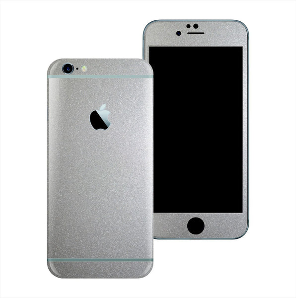 iPhone 6 Plus Glossy Silver Metallic Skin Wrap Sticker Cover Protector Decal by EasySkinz