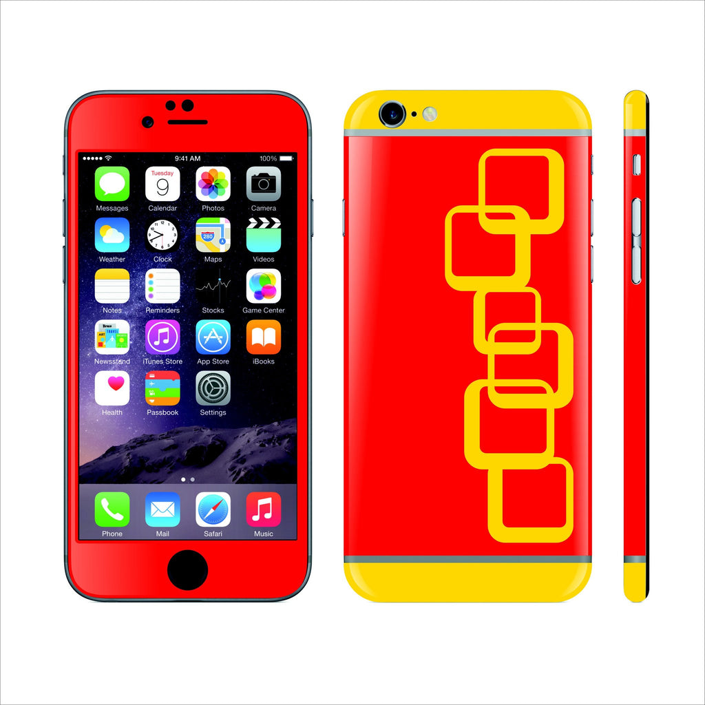iPhone 6 Custom Colorful Design Edition Cubes 003 Skin Wrap Sticker Cover Decal Protector by EasySkinz