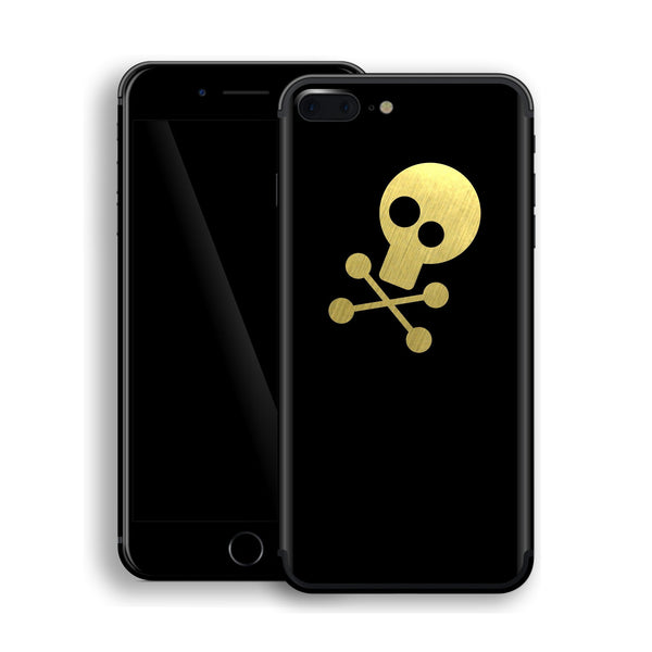iPhone 7 Plus SKULL Custom Design Matt BLACK Skin Wrap Decal Protector Cover | EasySkinz