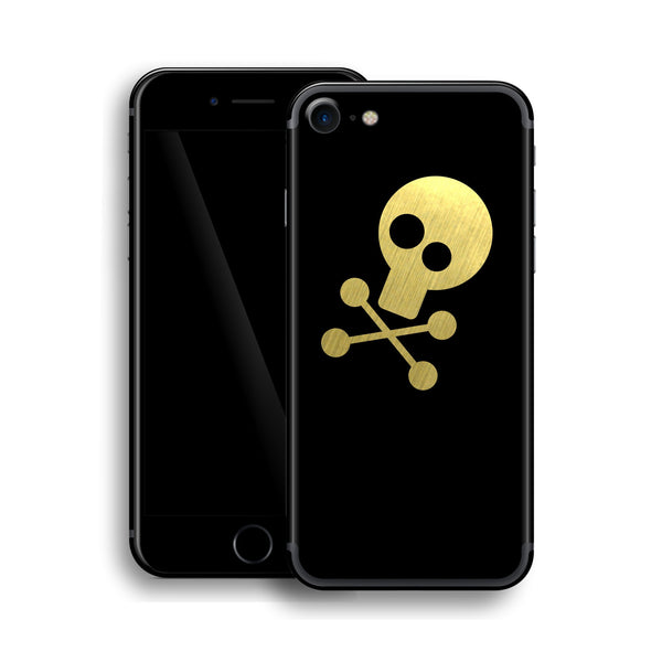 iPhone 7 Skull Custom Design Matt Black Skin Wrap Decal Protector Cover | EasySkinz
