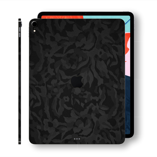 iPad PRO 11-inch 2018 Luxuria Black 3D Textured Camo Camouflage Skin Wrap Decal Protector | EasySkinz