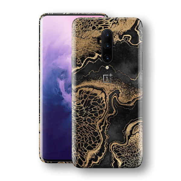 OnePlus 7T PRO Print Custom SIGNATURE LIQUID GOLD Veins Skin, Wrap, Decal, Protector, Cover by EasySkinz | EasySkinz.com
