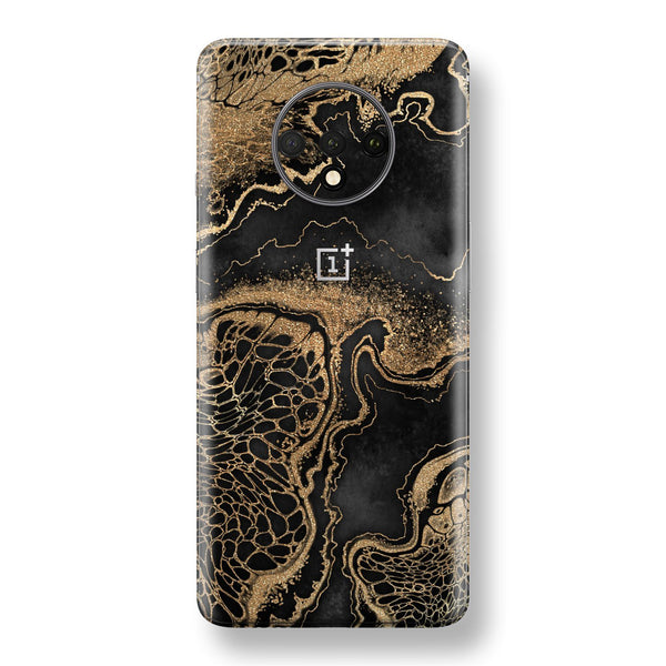 OnePlus 7T Print Custom SIGNATURE LIQUID GOLD Veins Skin, Wrap, Decal, Protector, Cover by EasySkinz | EasySkinz.com