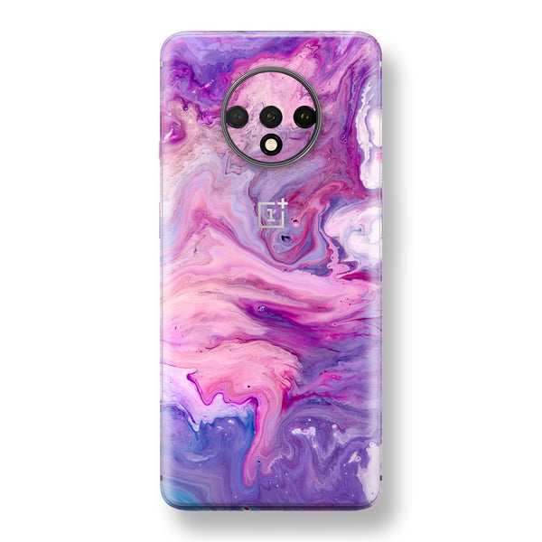 OnePlus 7T Print Custom SIGNATURE Abstract PURPLE Paint Skin, Wrap, Decal, Protector, Cover by EasySkinz | EasySkinz.com