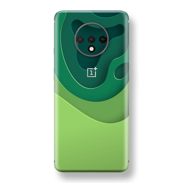 OnePlus 7T Print Custom SIGNATURE GREEN CARVING Skin, Wrap, Decal, Protector, Cover by EasySkinz | EasySkinz.com
